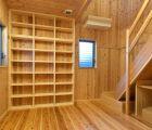 書庫 頑丈な本棚を造作で作りました
