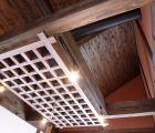 井桁の上にフード・排煙設備も設けました